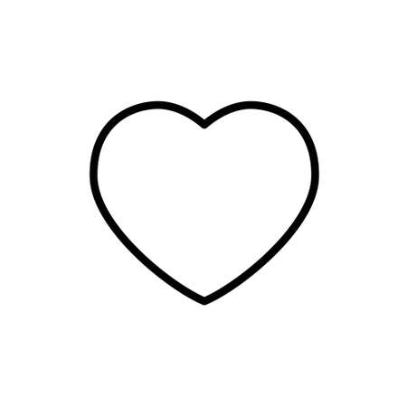 Illustration for Heart shape vector. Linear icon. Love symbol. - Royalty Free Image