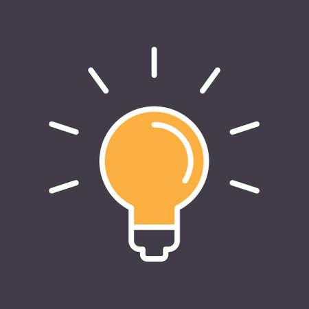 Illustration pour Light bulb shine icon. Idea lamp symbol. - image libre de droit