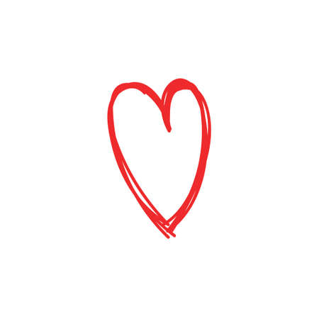 Ilustración de Heart doodle icon, symbol of love. Hand drawn illustration. - Imagen libre de derechos