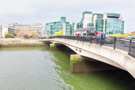Liffey river bank in Dublin, Ireland