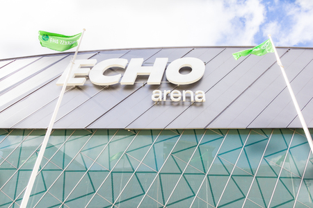Echo Arena in the Kings Dock, Liverpool, Merseyside, UK
