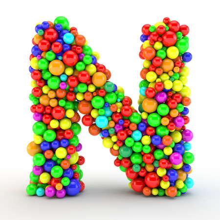 Foto de 3D rendered letter, made of colorfull shine candy balls - Imagen libre de derechos