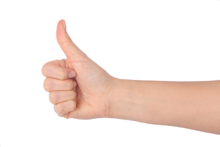 thumbs up isolated on white background