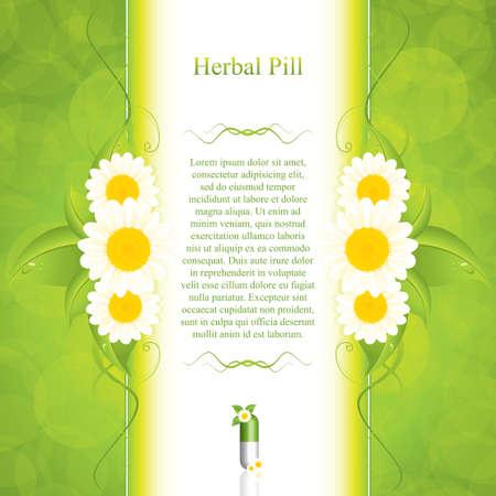 Photo for Green alternative medication concept - vector illustration  - Royalty Free Image