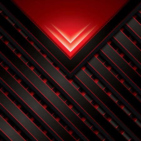 Photo pour Abstract background, metallic red brochure, vector - image libre de droit