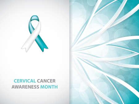 Illustration pour Cervical Cancer Awareness Month. - image libre de droit
