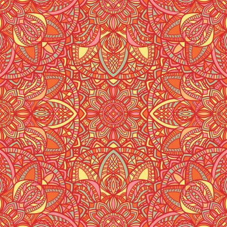 Illustration pour Tribal vector mandala. Vintage design for printing. Hand drawn background. - image libre de droit