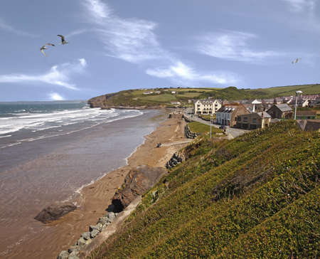 Broad Haven is a holiday resort in Pembrokeshire, Wales, UK. It has anexcellent beach.