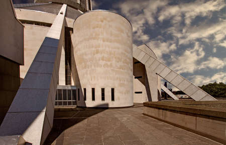 The architectural features of the Liverpool Roman Catholic Cathedral designed by Sir Frederick Gibberd are unique
