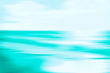 Photo pour An abstract blue ocean seascape with blurred panning motion. Image displays a retro vintage look with cross-processed colors. - image libre de droit
