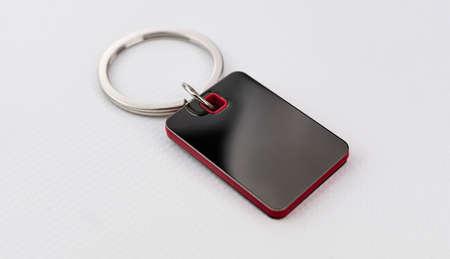 Photo pour Merchandising keychain to print a corporate logo - image libre de droit