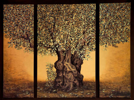 Triptych of the tree of life