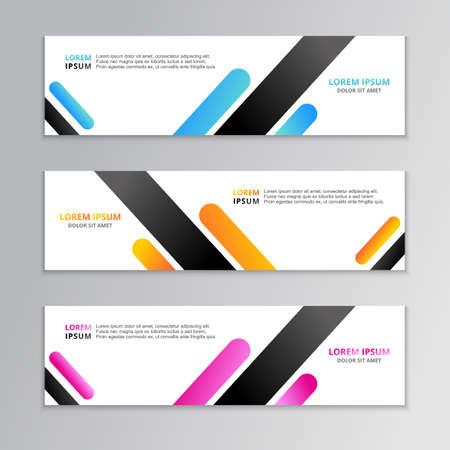 Ilustración de Business Banner Template, Layout Background Design, Corporate Geometric web header or footer in gradient color Vector - Imagen libre de derechos