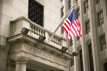 USA, New York, Wall Street, Stock Exchange. Example picture for stock and shares