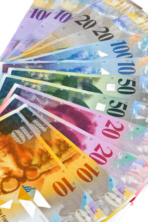 Swiss francs. Money and bank notes in Switzerland