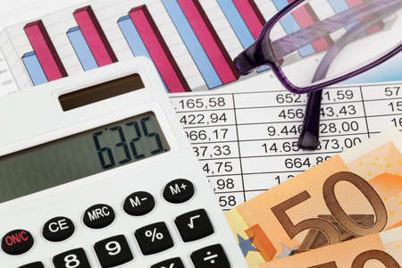 a calculator and various statistics when calculating the balance sheet, revenue and profit.