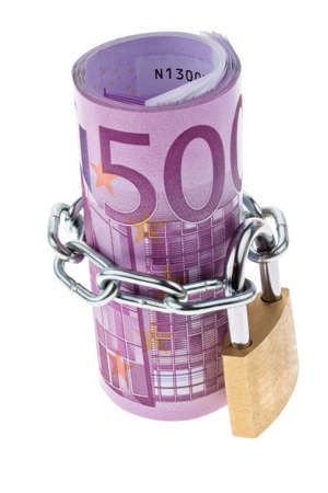 € 500 bill complete with a chain