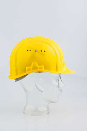 bauhelm a construction worker isolated on a white background