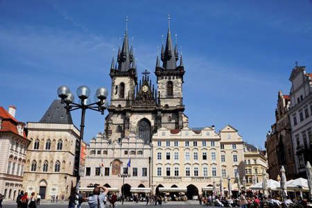 prague, old town square, church of the virgin mariatyn