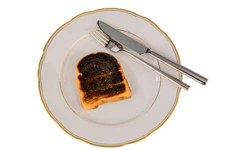 burnt toast on a plate