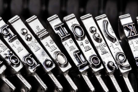 type an old typewriter. symbolic photo for communication in former times