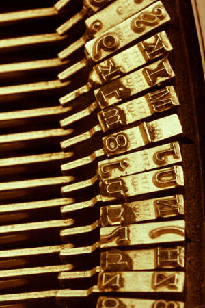letters of an old typewriter. symbolic photo for communication in former times