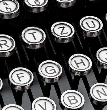 an old typewriter keyboard. symbolic photo for communication in former times