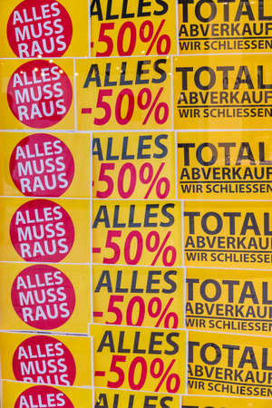 total sales at a store. fesch?ft is closed a