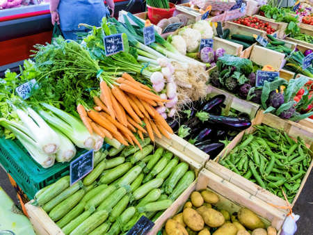 selection of vegetables at the market, symbolfoto food, healthy food, retail