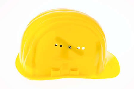 bauhelm a construction worker isolated against a white background