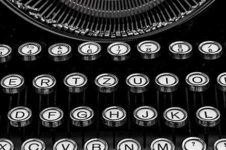 keyboard of a typewriter