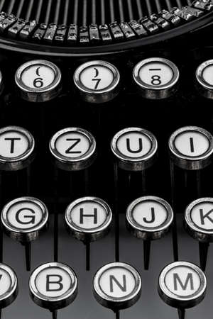 letters of a typewriter