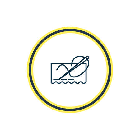 Illustration pour Vector illustration of stitching icon line. Beautiful entertainment element also can be used as needlework icon element. - image libre de droit