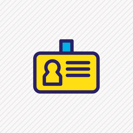 Illustration pour Vector illustration of id icon colored line. Beautiful connect element also can be used as personal badge icon element. - image libre de droit