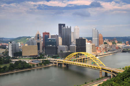 Pittsburgh skyline during late afternoon
