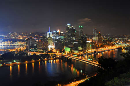 Pittsburgh Night Skyline