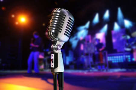 Vintage microphone at concert