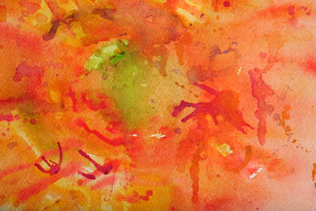 Watercolor background in reds and orange