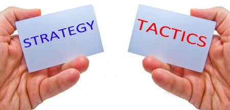 Photo pour strategy versus tactics concepts - image libre de droit