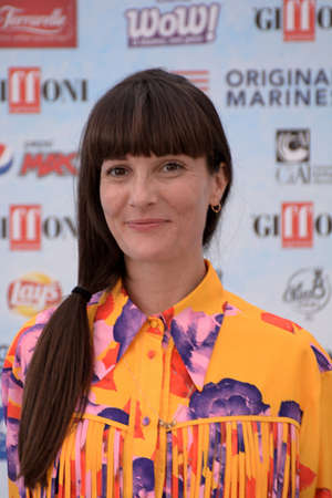 Giffoni Valle Piana, Sa, Italy - July 20, 2018 : Victoria Cabello at Giffoni Film Festival 2018 - on July 20, 2018 in Giffoni Valle Piana, Italy