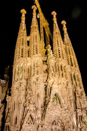 BARCELONA SPAIN - 23.04.2016 La Sagrada Familia designed by Gaudi
