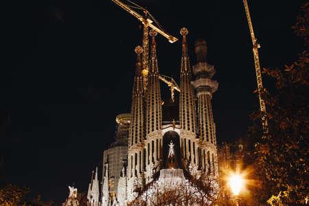BARCELONA, SPAIN - 23.04.2016: La Sagrada Familia designed by Gaudi April 24 2016 in Barcelona Spain