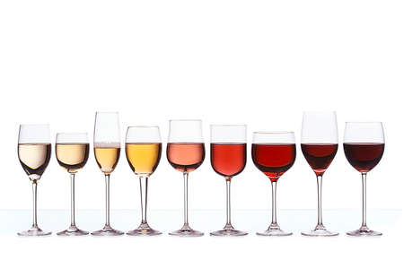 Wine color gradient