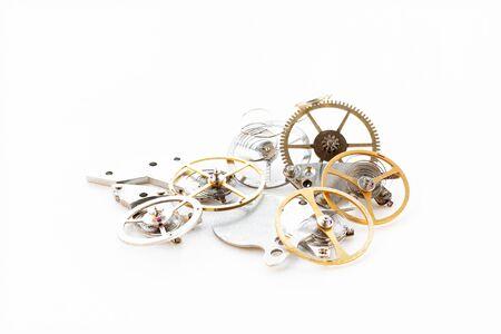 Photo pour Detail of several clockworks dismantled - image libre de droit