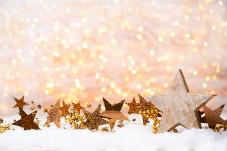 Photo for Christmas and new year gold theme background. - Royalty Free Image