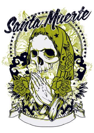 Santa muerte: Royalty-free vector graphics
