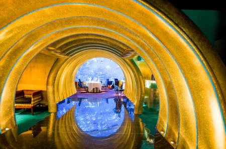 Dubai, U.A.E. - February 19,  2007:  The undersea resturant of the luxury Burj Al Arab hotel