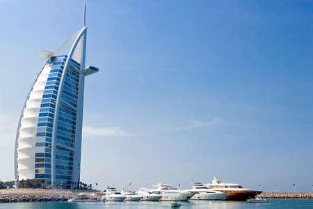 Dubai, U.A.E. - November 12, 2006:  View of the famous luxury Burj Al Arab hotel