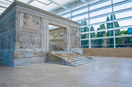 Rome, Italy - September 28, 2008: The Ara Pacis museum