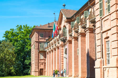 Venaria, Italy - May 21,2017: The Royal apartments of La Mandria castle
